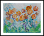 Tulips time, original acrylic painting, Paintings, Expressionism,Fine Art, Botanical,Floral,Nature, Acrylic,Canvas, By Emilia Milcheva
