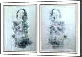 Twin sisters -02- (n.421) - diptych, Paintings, Abstract, People, Acrylic, By Alessio Mazzarulli