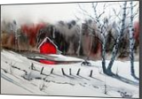 Two Geese Lodge, Paintings, Realism, Landscape, Watercolor, By james Allen lagasse
