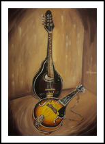 Two Mandolins(acrylic on canvas) painter--Victoria Trok, Paintings, Fine Art, Still Life, Acrylic, By Victoria Trok