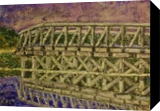 Uncle Tim's Bridge, Paintings, Impressionism, Land Art, Painting, By Jim Richard Relyea