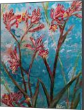 UNDER THE BLUE SKY - KANGAROO PAWS, Paintings, Abstract,Modernism, Avant-Garde,Botanical,Floral,Nature, Acrylic,Canvas, By HSIN LIN