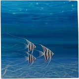 Under the Sea Angels - a large original underwater painting with angel fish, Paintings, Fine Art, Seascape, Oil, By Gill Bustamante
