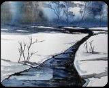 Unfrozen, Paintings, Fine Art, Landscape, Watercolor, By james Allen lagasse