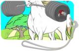Unicorn Strong, Illustration, Pop Art, Cartoon, Mixed, By Tim Addison