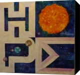 Universal Hope, Paintings, Impressionism, Celestial / Space, Acrylic, By Marion Grant Freeman