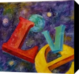 Universal Love, Paintings, Impressionism, Celestial / Space, Acrylic, By Marion Grant Freeman
