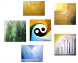 Universe (five elements) fen-shuy 6 panels, Paintings, Existentialism,Fine Art,Symbolism, Conceptual,Figurative,Window on the World, Oil, By Andrew Kuzmin