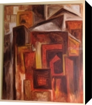 Urban Brown, Architecture, Cubism, Architecture, Oil, By Silvia Palazon Lopez