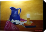 Vase Candle and Flowers, Paintings, Fine Art,Realism, Still Life, Canvas,Oil, By Mike Chaple