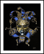 Venetian mask, Paintings, Fine Art,Modernism,Photorealism,Symbolism, Fantasy,Inspirational,Memorial, Acrylic, By Ivan Pili