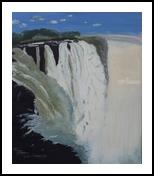 Victorian waterfalls, Paintings, Fine Art, Landscape, Canvas,Oil,Painting, By Claudia Luethi alias Abdelghafar