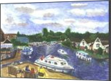 View from Wroxham BridgeNorfolk Broads, Paintings, Realism, Land Art, Watercolor, By Michelle Katrina Archer