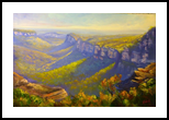View of the Grose Valley from Mount Banks Traverse, Paintings, Fine Art,Impressionism,Realism, Landscape, Canvas,Oil, By Christopher Vidal