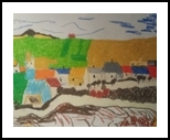 Village, Paintings, Impressionism, Landscape, Pastel, By MD Meiser