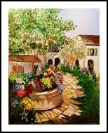 Village in Bloom, Paintings, Realism, Decorative, Acrylic, By Deborah Pride