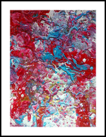Voir la vie en rose, Paintings, Abstract,Fine Art,Modernism,Surrealism, Celestial / Space,Decorative, Acrylic, By Smita Biswas