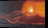 Volcanic eruption, Paintings, Fine Art, Landscape, Canvas,Oil,Painting, By Claudia Luethi alias Abdelghafar