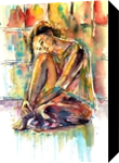 Waiting for you, Paintings, Impressionism, People, Watercolor, By Kovacs Anna Brigitta
