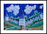 Walls and towers, Paintings, Expressionism, Architecture, Acrylic, By Victor Ovsyannikov
