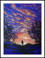 Wanderer(acrylic on canvas), Paintings, Fine Art, Landscape, Acrylic, By Victoria Trok