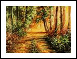 Warm evening, Paintings, Impressionism, Landscape, Acrylic, By Marta Kuźniar