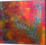 Warm Love, Paintings, Abstract, Botanical,Landscape, Canvas, By Kenneth E Parker