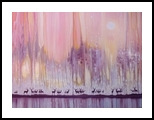 Watchers in the Ice Forest - a winter landscape with deer, Paintings, Fine Art, Landscape, Canvas, By Gill Bustamante