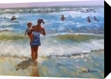 Watching the waves., Paintings, Impressionism, Figurative, Acrylic, By John William Richie