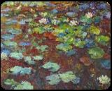 Water Lilies, Paintings, Impressionism, Botanical,Floral,Landscape, Canvas,Oil, By Liudvikas Daugirdas