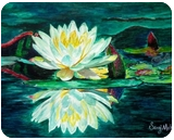 Water Lily, Paintings,Paper Art, Fine Art, Figurative,Floral,Inspirational,Landscape,Nature, Watercolor, By Saroj Kumar Meher