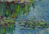 Water reflections in lily pond, Paintings, Impressionism, Landscape, Canvas,Oil, By Liudvikas Daugirdas