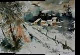 watercolor 290306, Paintings, Impressionism, Landscape, Watercolor, By Pol Ledent