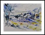 watercolor 413010, Paintings, Impressionism, Landscape, Watercolor, By Pol Henry Ledent