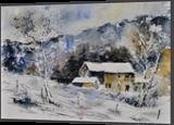 watercolor 414041, Paintings, Impressionism, Landscape, Canvas, By Pol Henry Ledent