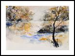 watercolor 417042, Paintings, Impressionism, Landscape, Watercolor, By Pol Henry Ledent