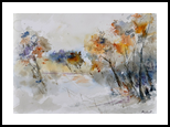 watercolor 418022, Paintings, Impressionism, Landscape, Watercolor, By Pol Henry Ledent