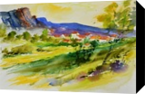 WATERCOLOR 516052, Paintings, Impressionism, Landscape, Watercolor, By Pol Ledent