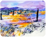 watercolor 517040, Paintings, Impressionism, Botanical,Landscape, Watercolor, By Pol Ledent