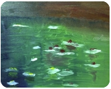Waterlillies #2, Paintings, Impressionism, Botanical, Oil, By MD Meiser