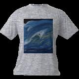 Wave just breaking, Paintings, Fine Art, Seascape, Canvas,Oil, By Claudia Luethi alias Abdelghafar