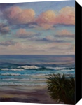 Waves at Sunset, Coolum Beach, QLD, Paintings, Fine Art,Impressionism,Realism, Seascape, Oil, By Christopher Vidal
