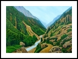 Way to Gangotri, Paintings, Expressionism,Photorealism, Landscape, Canvas, By Ajay Harit