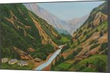 Way To Gangotri II, Paintings, Expressionism,Realism, Landscape, Canvas, By Ajay Harit