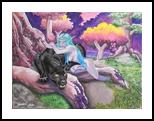 Welcome in Darnassus, Paintings, Fine Art, Fantasy, Acrylic, By Anita Szendrei