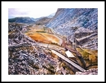 Welsh Slate Mine, Paintings, Realism, Landscape, Canvas,Oil,Painting, By Matthew David Evans