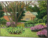 Westfield Technical Academy-View from Grandmother's Garden, Paintings, Impressionism, Floral, Landscape, Canvas, Oil, Painting, By Richard John Nowak