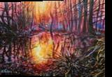 Wetlands, Paintings, Fine Art, Landscape,Nature, Acrylic,Canvas, By Marta Kuźniar