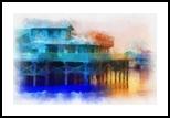 Wharf Color, Digital Art / Computer Art, Abstract, Decorative, Digital,Photography: Photographic Print, By Barbara Ramsay MacPhail