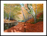 Whisper of Autumn, Paintings, Realism, Landscape,Nature, Canvas,Oil, By Dejan Trajkovic